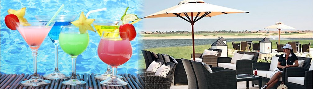 Refreshing drinks at the Residence Golf clubhouse